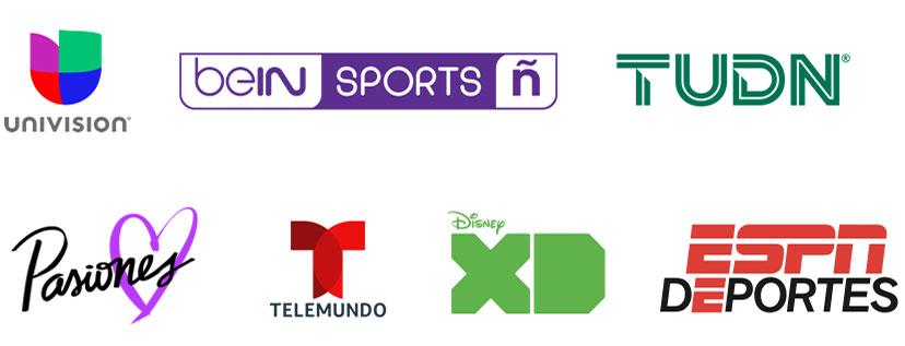 univision, bein Sports Espanol, TUDN, Pasiones, Disney XD, ESPN Deportes